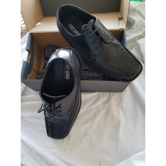 Stacy Adams DEMILL Youth Boys Black Lace Up Oxfords Dress Shoes